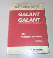 Workshop Manual Mitsubishi Galant/Galant Station Wagon Model Year 1981