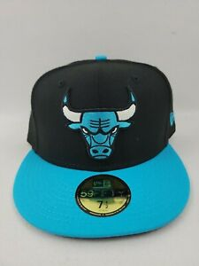 Chicago Bulls New Era Black 59FIFTY Fitted Size 7 1/2 Hat/Cap - Brand New