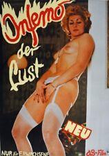 INFERNO DER LUST Sexfilm EA-Filmplakat A1 GEROLLT