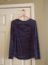 Large Juicy Couture Long Sleeve Purple Shirt With Chest Cut Out