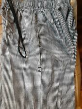 (2)Chef Works Checkerboard Cook Trouser Pants Black & White Medium / Med / Md