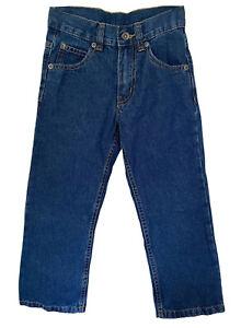 Boy's Denim Pants, Cotton Straight Leg Regular Fit Classic Basic Blue Jeans