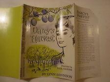 Darcy's Harvest, Lynn Bronson, Paul Galdone, Dust Jacket Only