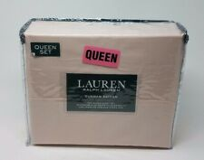 Ralph Lauren One Queen Sheet Set, Pink Champagne
