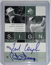2002 Upper Deck SP Authentic Fred Couples/Curtis Strange Autograph SOTT