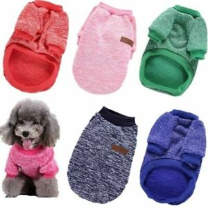 Pet Dog Warm Fleece Clothes Sweater Winter Apparel Shirt Coat Puppy Clothing US