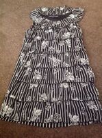 Gorgeous Black And White Ruffle Dress From Mela Loves London Size S Fits 8/10
