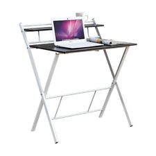 Wooden Folding Writing Table Computer Desk PC Laptop Home Office Small Space New