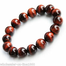 Natural Red Tiger Eye Stone 10mm Beads Men Jewelry Bracelet Bangle