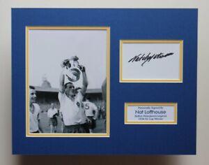 Bolton Wanderers Signed NAT LOFTHOUSE FA Cup Autograph Photo Display COA England