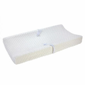Carter's Ecru Ivory Raised Dot Soft Plush Changing Pad Cover for Baby Nursery