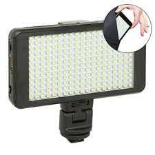 Vidpro LED-230 Ultra-Slim On-Camera Video Lighting Kit Diffuser Battery& Charger