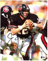 """JIM KELLY Signed Autographed 8X10 Photo """"HOUSTON GAMBLERS"""" BAS BECKETT #G66475"""