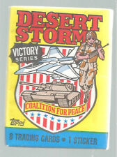 Desert Storm Victory Series Trading Cards Coalition Peace Topps 1991 One Pack