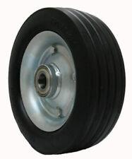 "Solid Rubber Wheel 250x75mm 10"" X 3"" 320kg Deck Wheels Trolley Grass Care 25mm"