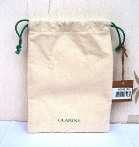 Clarins Small Canvas Drawstring Travel/Make Up Bag New