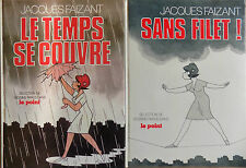 Lot 2 Books Comics Jacques Faizant without Net - the Time It Cover the Point