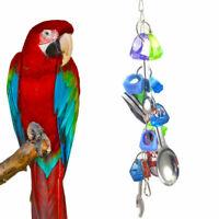 Papagei Spielzeug Turnschuhe Vogel Spielzeug Metall Löffel Schnur Spielzeug
