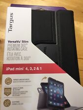 """Targus VersaVu Slim 7.9"""" iPad mini Black Folio Tablet Case 4,3,2,1"""