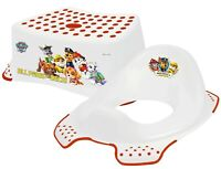 Paw Patrol Non Slip Up Step Stool & Universal Toddler Toilet Training Seat Combo
