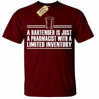 Bartender Limited Inventory T Shirt funny pub gift landlord bar man tee top