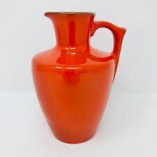 Frankoma Pottery Syrup Jug 838 Red / Orange Flame Glaze Vintage 1960's