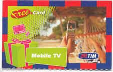 TIM FREE CARD MOBILE TV CARTONCINO PROMOZIONALE SERVIZI SPIAGGIA