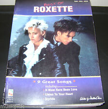 Best of ROXETTE Vocal Piano CHORDS Guitar RARE SONG BOOK