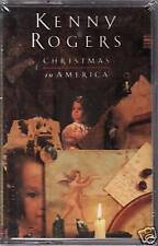 """KENNY ROGERS """"CHRISTMAS IN AMERICA"""" CASSETTE '89 sealed"""