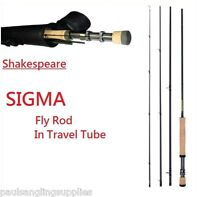 Shakespeare Sigma Fly Fishing Rods & Cordura Case / Tube Carbon Fibre All Models