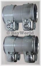 2 St. Auspuff Universal Rohrverbinder 46x 50,5x 95mm Doppelschelle VW Lupo 46x90