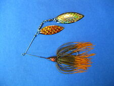3/8 oz Spinner Bait Pum/OrangeTip bass musky pike jig tackle lure lot T38Wpr-217