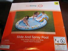 trueliving kids swimming pool slide and spray water summer fun swim squirt play