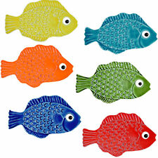 """Ceramic 4"""" Tropical Fish For Wall or Pool - set of 6 -Made in USA *FREE SHIPPING"""