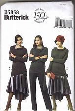 40s Retro Top Pants Hi-Lo Peplum Fishtail Skirt Sewing Pattern Sz 14 16 18 20 22