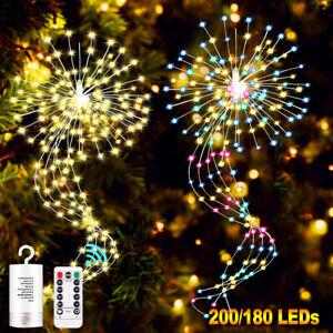 LED String Fairy Lights Firework Starburst Christmas Waterfall Outdoor Garden UK