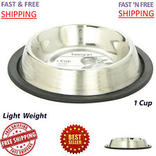 Stainless Steel Feeding Cat Bowl Dish Small Pet Feeder Cats Food 1 cup / 8 oz