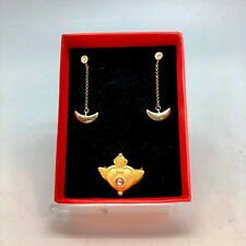Gold Plated Ring Us Seller Sailor Moon Style earrings +