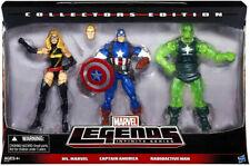 Marvel Legends Captain America, Ms Marvel, Radioactive Man 3 Pack