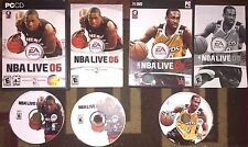 NBA LIVE 08 2008 & NBA LIVE 06 2006 LOT PC COMPLETE VG SHAPE