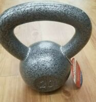 NEW 20 lb Pound Kettlebell Hammertone Grey Cast Iron (In Stock) 20 pound dumbell