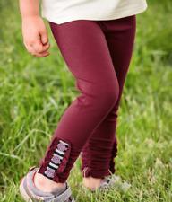 Matilda Jane Dance Away Leggings Girls Size 6 New In Bag Maroon Pants