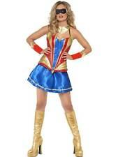 FEVER HERO HOTTIE COSTUME, SUPERMAN,SUPERWOMAN FANCY DRESS, MEDIUM 12-14 #AU