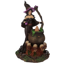 Witches Cauldron Backflow Incense Burner - Smoke Cones Holder