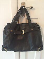 Brown Leather Holdall Weekend Bag