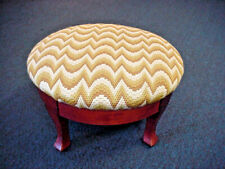 Needlepoint Foot Stool BARGELLO Hand Crafted Top Stunning Great Colors