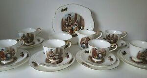 Vintage Cries of London AFTERNOON TEA SET Cake Plate/Jug/Bowl 21 Pieces