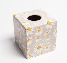 Daisy Tissue Box Cover wooden decoupaged handmade