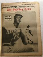 1965 Sporting News SAN FRANCISCO Giants WILLIE McCOVEY No Label AFL NFL Rosters