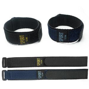 18mm 20mm 22 24 26mm Nylon Watch Band Strap Stripe Fiber Fabric Strap Sport Mens